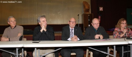Jacques Rebillard, Louis Poncet, Robert Chafraix, Christian Maillet, Denise Méhu