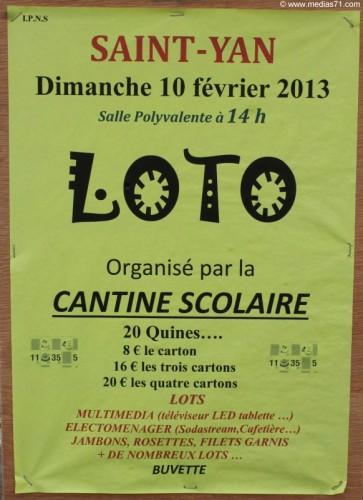 Loto de la Cantine Scolaire de Saint-Yan