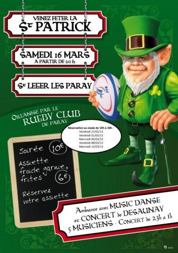 Le Rubgy Club XV fête la Saint-Patrick