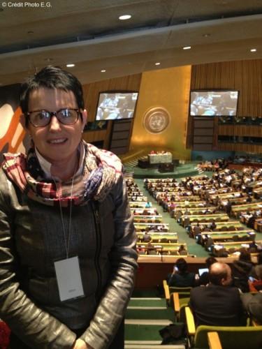 Édith Gueugneau Déplacement à l'ONU à News York