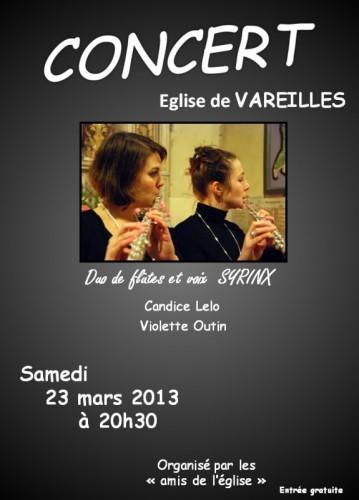 Concert de Flûtes à Vareilles