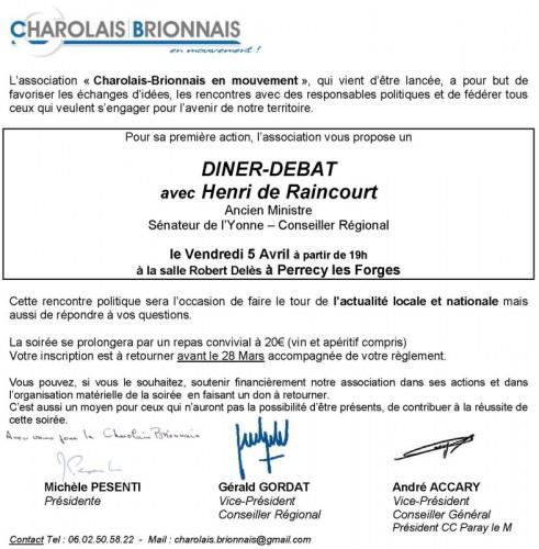 UMP Diner-débat à Perrecy-les-Forges