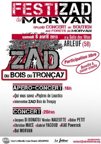 Concert Festizad : Touche pas à ma forêt !