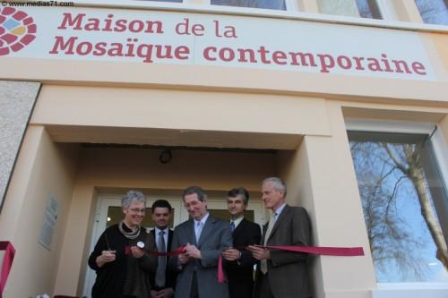 Paray Inauguration Maison de la Mosaïque