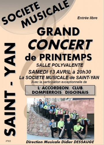 Saint-Yan Concert du Printemps