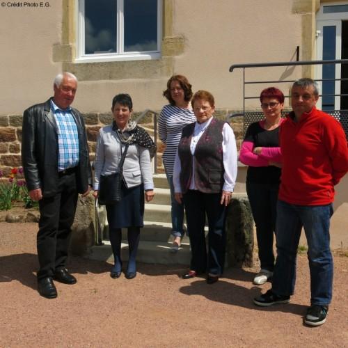 Édith Gueugneau visite les communes du canton de La Clayette