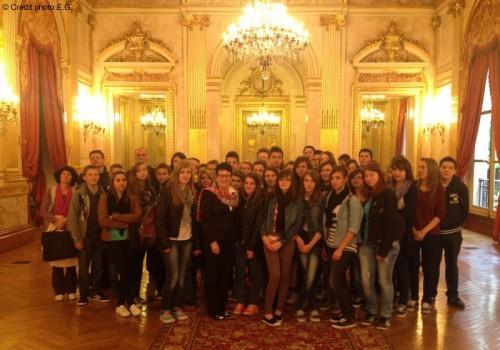 Collège de Bourbon-Lancy à l'Assemblée Nationale