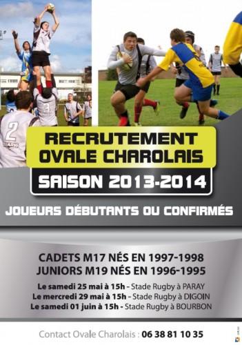 2013 Recrutement en Rugby des Jeunes