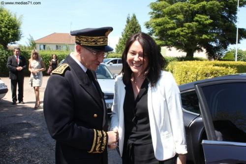 Sylvia Pinel en visite à Charolles