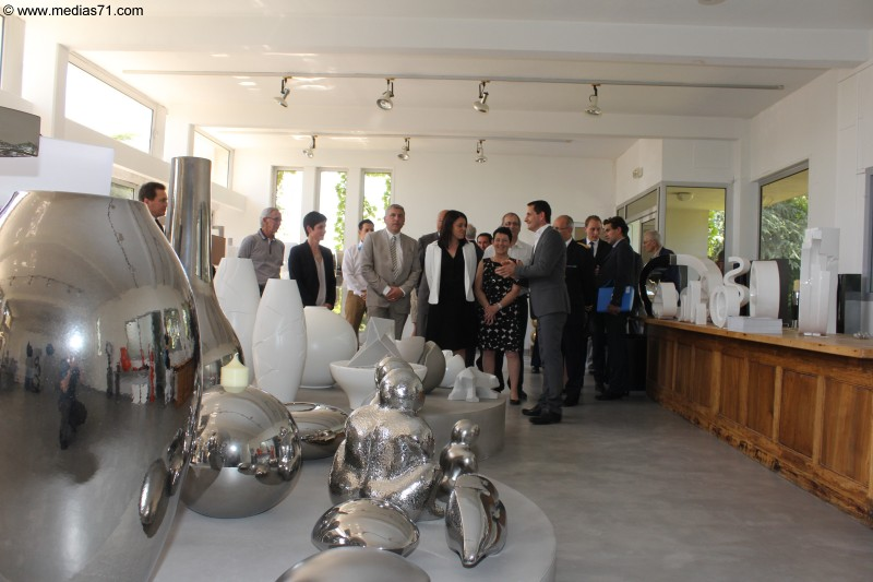 Sylvia Pinel en visite à Charolles | Medias71.eu