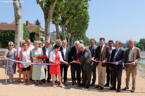 Digoin : Inauguration de la Place de la Grève