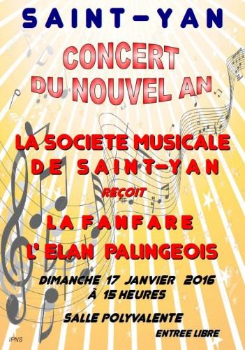 Saint-Yan : Concert du nouvel an 2016