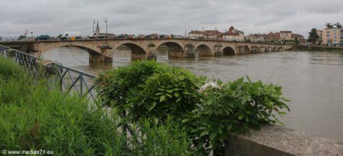 Mâcon Travaux Pont Saint-Laurent