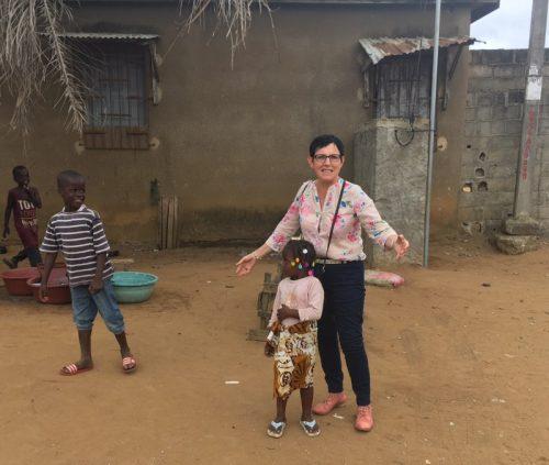 Edith Gueugneau en Côte d'Ivoire