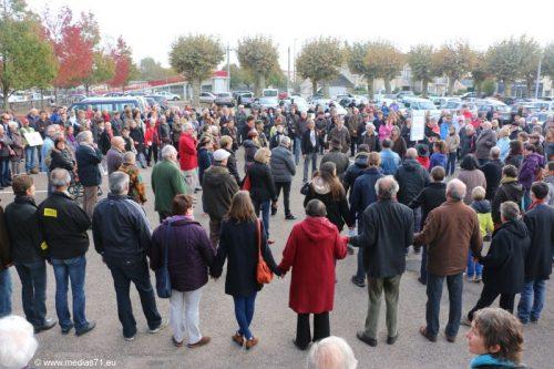 Deux manifestations à Digoin le même jour