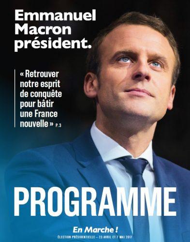 Emmanuel Macron dévoile son programme