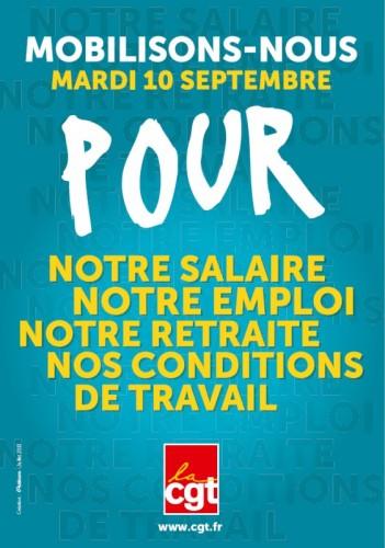 Journée de mobilisation de la CGT Charolais