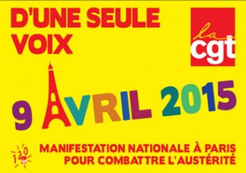 Journée d'action unitaire du 9 Avril 2015