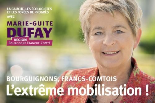 Régionales 2015 : Communiqué de Marie-Guite DUFAY